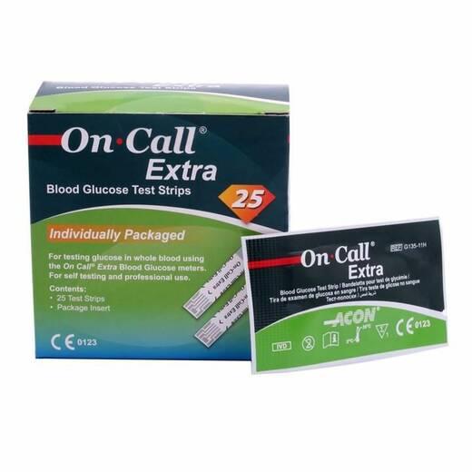 Тест-смужки On Call Extra (Він Колл Екстра) 25 шт