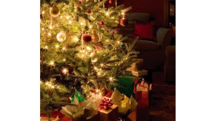 В Абу-Даби установили Рождественскую елку украшенную бриллиантами и золотом