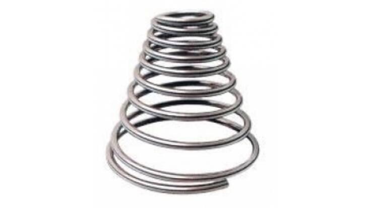 Конические пружины сжатия и другие виды пружин оптом от 100 штук!