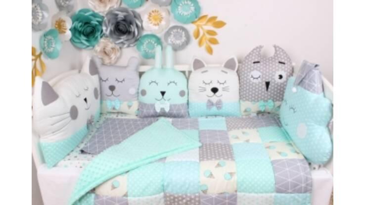 Оригинальные бортики в детскую кроватку изготавливаем под заказ!
