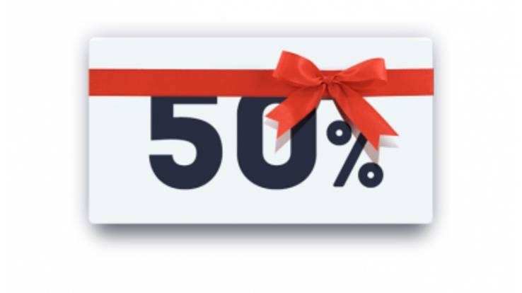 50% discount on every 2nd product!