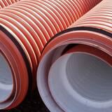 Двухслойные гофрированные канализационные трубы для безнапорной и ливневой канализации