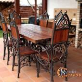 Стол и стулья гарнитур