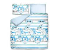 Комплект постільної білизни Емоційна Совушка Синій Dormeo  200х200 см