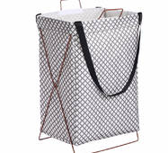 Кошик-сумка для білизни іграшок чорна Дрібні квіточки