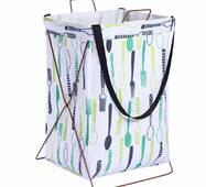 Кошик-сумка для білизни іграшок біла Столові прилади