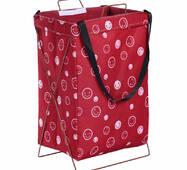 Кошик-сумка для білизни іграшок червона Веселі смайлы