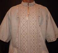 чоловіча вишита сорочка на полотні