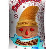 """Шоколадне морозиво у вафельному стаканчику """"Сніговик"""""""