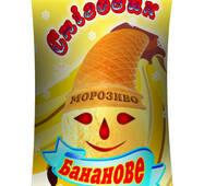 "Морозиво у вафельному стаканчику ""Сніговик"", бананове"