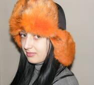 10. Меховая шапка ушанка (оранжевый мех)