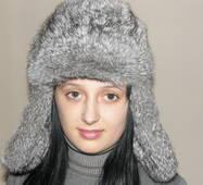 16. Хутряна шапка вушанка (сіра)