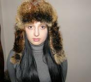 2. Женская меховая шапка (тонированая лисица)
