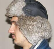 6. Чоловіча кроляча шапка-вушанка