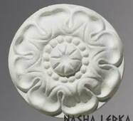 Лепной декор Р/016 - розетка из гипса