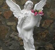 """Ритуальная скульптура """"Ангел"""" из белого бетона"""