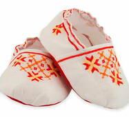 Льняные пинеточки с яркой киевской вышивкой
