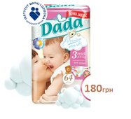 Подгузники DADA Premium Extra Soft Midi 3-ка (4-9 кг), 60 шт