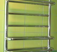 Узкий полотенцесушитель из н/ж для ванной комнаты Comfort 7-5/750х400 с усиленной отдачей тепла