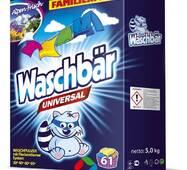 Пральний порошок універсальний Waschbаr 5кг, 61 прання (Німеччина)