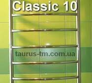 Большой полотенцесушитель лесенка Classic 10 / 1050х500 мм из нержавейки. Круглая гнутая перемычка d20. 1/2