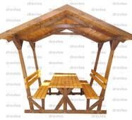 Беседка деревянная (деревянная кровля)