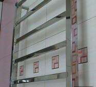 Плоский Quatro 6/650х450 полотенцесушитель для современной ванной комнаты. 3 версии нагрева.