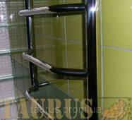 Добротный высокий полотенцесушитель н/ж в ванную комнату Standart 12/1250х500. Трапеция перекладина