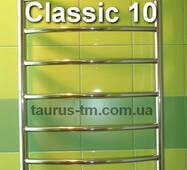 Высокий узкий полотенцесушитель н/ж лесенка Classic 10/ 1050х400 мм из круглой дугообразной трубы d20