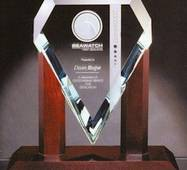 Нагорода зі скла під нанесення логотипу арт. PG022