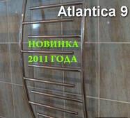 Крассивый полотенцесушитель Atlantica 9/500 из нержавеющей стали в ванную комнату