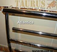 Практичный полотенцесушитель Atlantica 6/500 из нержавеющей стали в ванную комнату. Изогнутая форма каркаса
