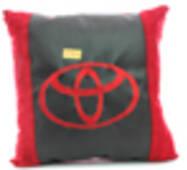 Автомобильная подушка KsuStyle Toyota красно-черная 01638