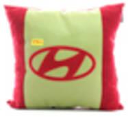 Автомобильная подушка KsuStyle Hyundai красно-оливковая 01692