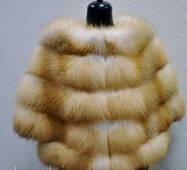 Женская жилетка из меха натуральной лисы 0038
