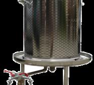 Гідропрес (аква) для вина, 120л, inox