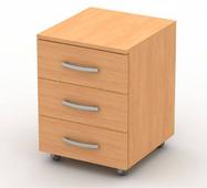 Тумба приставная к столу с ящиками