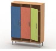 Шкаф для верхней одежды на металлокаркасе (3 секц.) ШВО-1