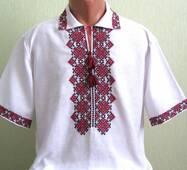 мужская вышиванка с коротким рукавом