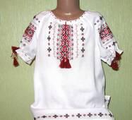 вишиванка для дівчинки з коротким рукавом