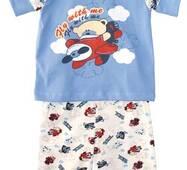 Пижама мальч. комбинир.(ф-ка+капри)с печатью В11-115.01