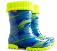 Гумові чоботи DEMAR TWISTER LUX FLUO d (Жовто-блакитна мозаїка), 20-27
