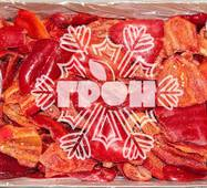 Замороженный перец красный резаный (половинка)