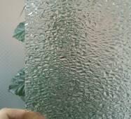 Узорчатое стекло, камушки
