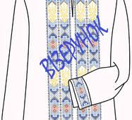 Заготовка вишивки  чоловічих сорочок ВЧ -27