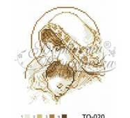 TO020ан2025   Мария с ребенком коричневая 20 см x 25 см