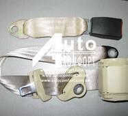 Автомобильный трехточечный ремень безопасности на автомобильное сидение (инерционный, сертифицированный, бежевый)