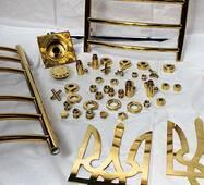 Изделия из нержавеющей стали с напылением под золото
