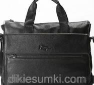 Мужской портфель   SF кожаный черного цвета