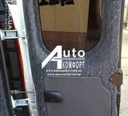 Заднє скло (сорочечка права) без електрообігріву на автомобіль Renault Kangoo 08 - (Рено Кангу)